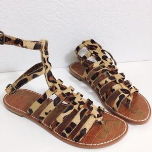 Sam Edelman Gilda Gladiator Sandal Leopard Size 6